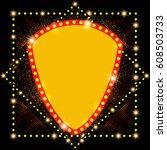 abstract shining retro light... | Shutterstock .eps vector #608503733