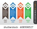 business infographic option... | Shutterstock .eps vector #608508527