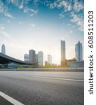empty asphalt road of a modern... | Shutterstock . vector #608511203