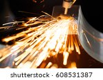drill with diamond tipped... | Shutterstock . vector #608531387