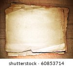 stack old papers on a wooden... | Shutterstock . vector #60853714