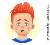 set of human emotions. facial...   Shutterstock .eps vector #608538713
