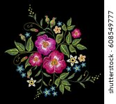 Embroidery Wild Roses  Dogrose...