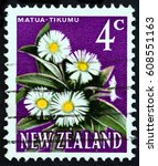 new zealand   circa 1967  a... | Shutterstock . vector #608551163