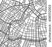 street map texture  vector | Shutterstock .eps vector #608552003