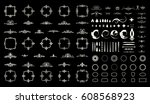 circle and square wicker... | Shutterstock .eps vector #608568923