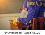 school  bag  backpack   soft...   Shutterstock . vector #608578127