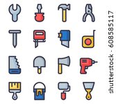 set of home repair tools icons. ... | Shutterstock .eps vector #608585117