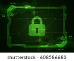 protection concept. protect... | Shutterstock .eps vector #608586683