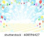 star and flag  background | Shutterstock .eps vector #608596427