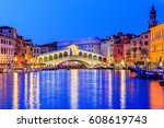 Venice  Italy. Rialto Bridge...
