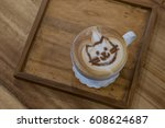 Cup Of Cappuccino With Cat Fac...