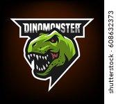 ferocious dinosaur. head of an...   Shutterstock .eps vector #608632373