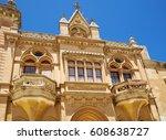 the baroque style facade of the ... | Shutterstock . vector #608638727