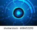 abstract hi tech technology... | Shutterstock .eps vector #608652293
