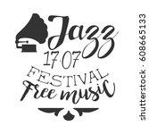 jazz free live music festival... | Shutterstock .eps vector #608665133