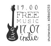 indie free live music concert... | Shutterstock .eps vector #608665253