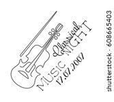 classical live music concert... | Shutterstock .eps vector #608665403