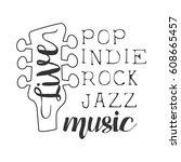 pop  rock  indie  jazz live... | Shutterstock .eps vector #608665457