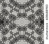 decorative seamless floral... | Shutterstock . vector #608688983