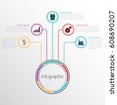 vector infographic templates... | Shutterstock .eps vector #608690207