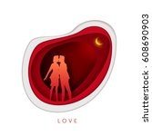relationship concept... | Shutterstock .eps vector #608690903