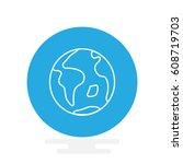 earth icon flat.  | Shutterstock .eps vector #608719703