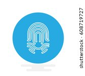 icon fingerprint | Shutterstock .eps vector #608719727