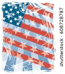 american flag background with... | Shutterstock .eps vector #608728787