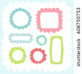 doodles cute elements. color... | Shutterstock .eps vector #608750753