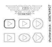 play button icon | Shutterstock .eps vector #608764907