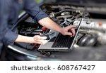 car mechanic hands   Shutterstock . vector #608767427