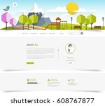 green colorful eco website... | Shutterstock .eps vector #608767877