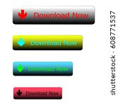 web download button on white... | Shutterstock .eps vector #608771537