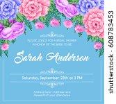 bridal shower invitation... | Shutterstock .eps vector #608783453