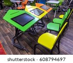 moscow  7 march 2017 classroom... | Shutterstock . vector #608794697