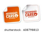 veterinary care stickers | Shutterstock .eps vector #608798813