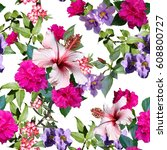 Floral Pattern Photo Collage...