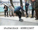 moscow   25 march 2017  young... | Shutterstock . vector #608812607