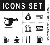 helicopter sign icon   Shutterstock .eps vector #608815523