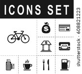 bicycle sign icon   Shutterstock .eps vector #608821223