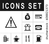 attention sign icon   Shutterstock .eps vector #608821373