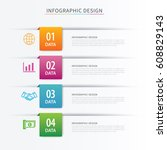 business index infographics... | Shutterstock .eps vector #608829143