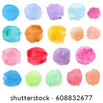 set of abstract bright vector... | Shutterstock .eps vector #608832677