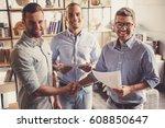 successful partnership.... | Shutterstock . vector #608850647
