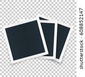 square retro photo  frame set... | Shutterstock .eps vector #608852147