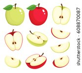 bright vector set of colorful... | Shutterstock .eps vector #608870087