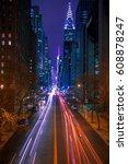 usa. new york city. night... | Shutterstock . vector #608878247