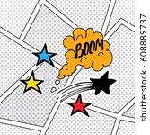 comic book speech bubble ...   Shutterstock .eps vector #608889737