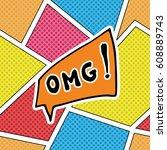 comic book speech bubble ...   Shutterstock .eps vector #608889743